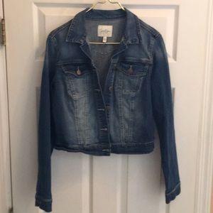 Jessica Simpson Large denim jean jacket button up